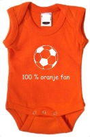 100 procent oranje fan romper