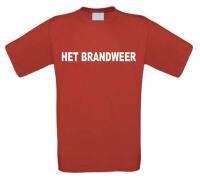 Het brandweer t-shirt korte mouw