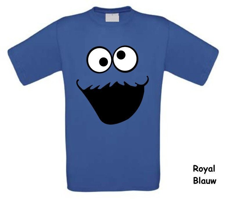monster t-shirt met korte mouw