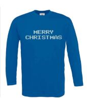 merry christmast t-shirt lange mouw