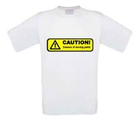 caution beware of moving parts t-shirt korte mouw