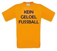Kein geloel fussball tshirt korte mouw