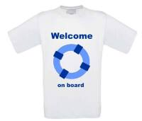 welcome on board  t-shirt korte mouw