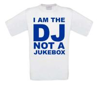 i am a dj not a jukebox t-shirt korte mouw