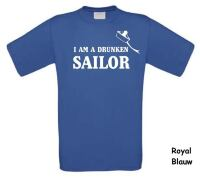 i am a drunken sailor t-shirt korte mouw
