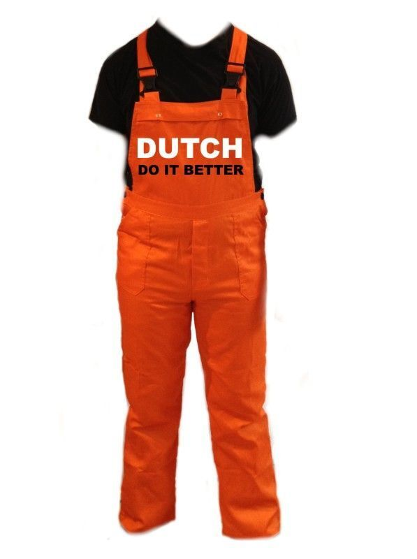 Dutch to it better tuinbroek overall oranje