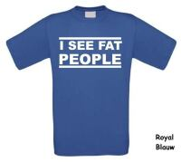 I see fat people t-shirt korte mouw