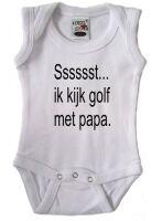 Sssssst... ik kijk golf met papa.