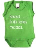 Sssssst......... ik kijk hockey met papa. romper