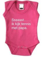Sssssst....... ik kijk tennis met papa. romper