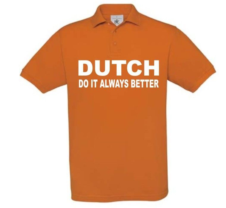 dutch do it always better  polo korte mouw oranje