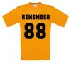 remember 88 t-shirt korte mouw