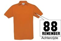 Remember 1988 polo oranje korte mouw