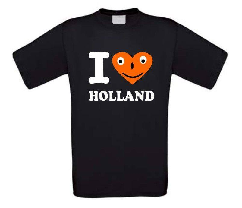 i love holland lachend hart t-shirt korte mouw
