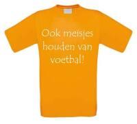Ook meisjes houden van voetbal t-shirt korte mouw