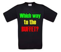 which way to the buffet korte mouw t-shirt