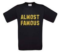 Almost Famous glitter goud bijna beroemd t-shirt korte mouw