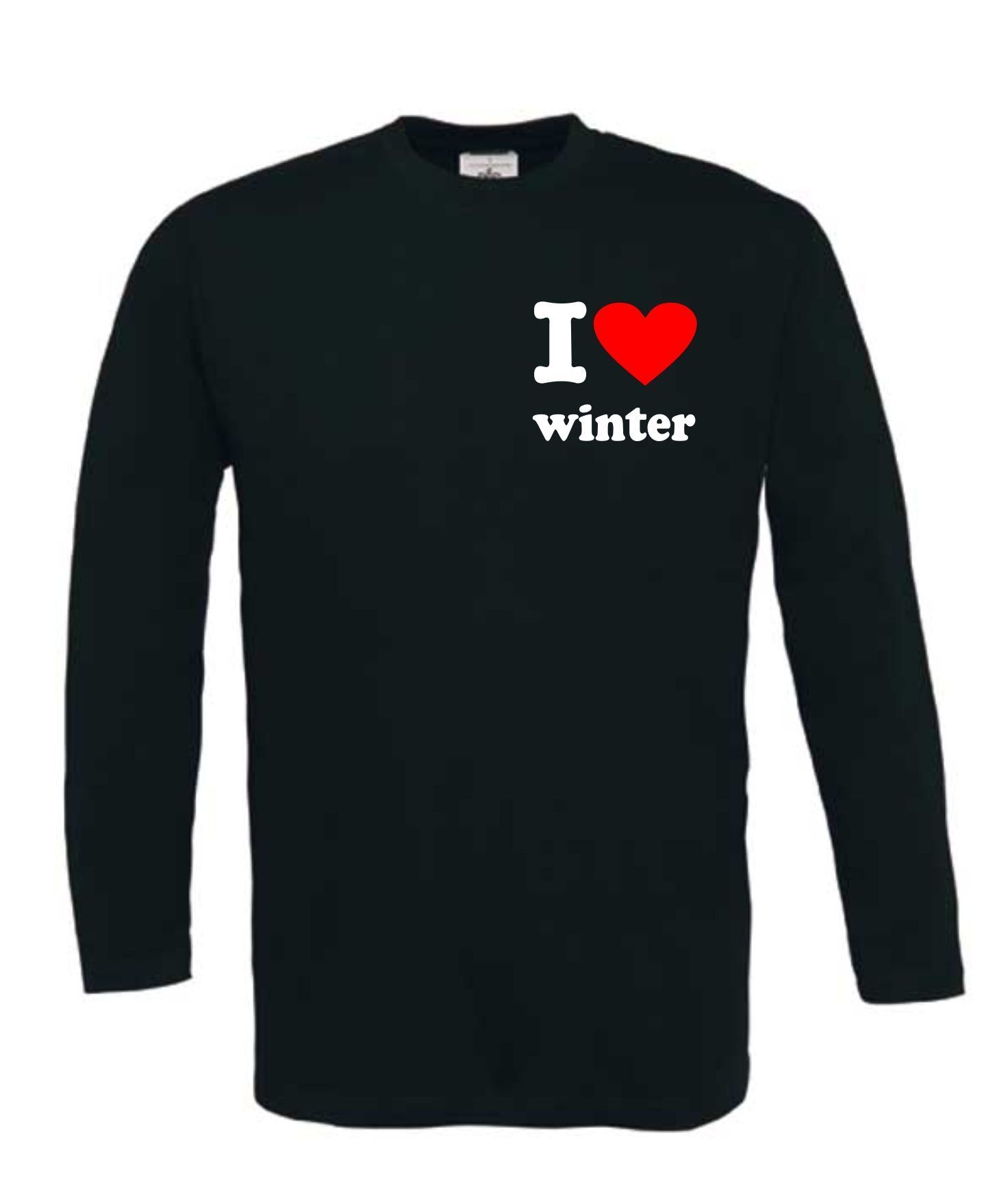apre ski  i love winter t-shirt lange mouw