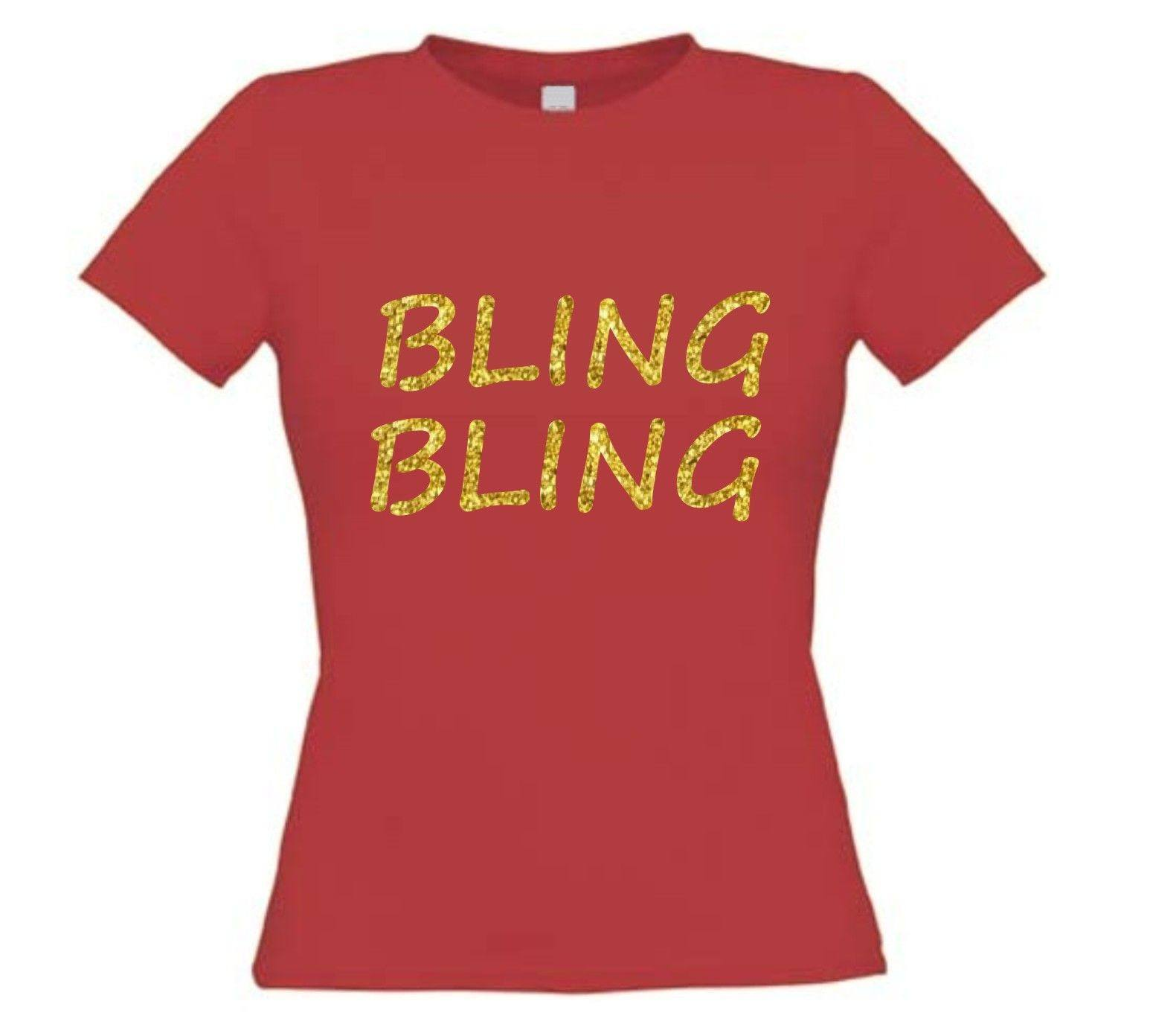 Mouw Glitter Bling T Shirt Korte Goud FJlKc1T