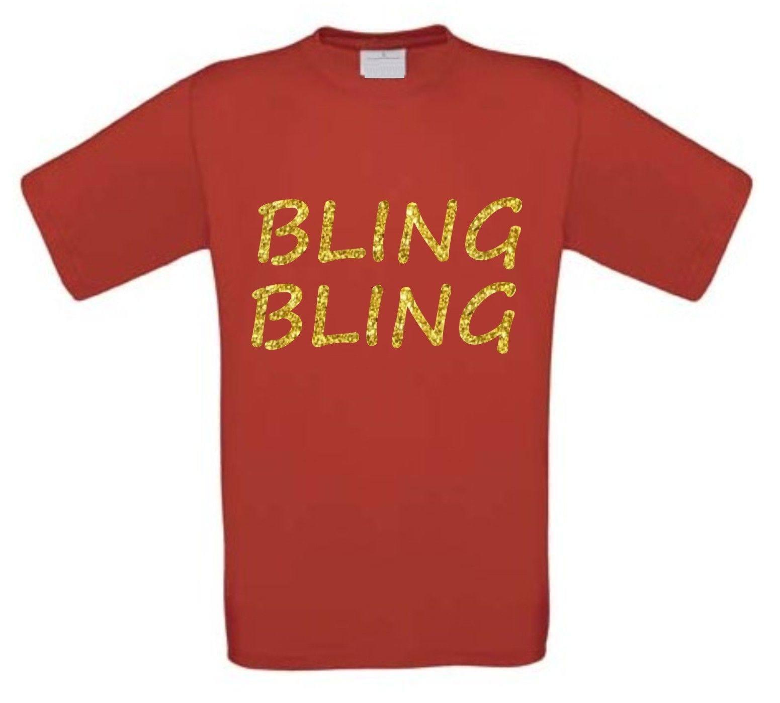 Bling Goud Shirt Glitter T Korte Mouw NO80wPkXn