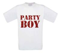 glitter rood party boy t-shirt korte mouw