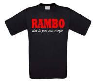 Rambo dat is pas een watje t-shirt korte mouw
