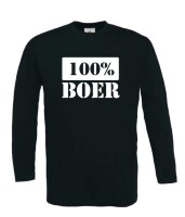 100 procent boer t-shirt lange mouw