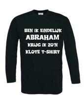Ben ik eindelijk abraham krijg ik zo kut shirt lange mouw