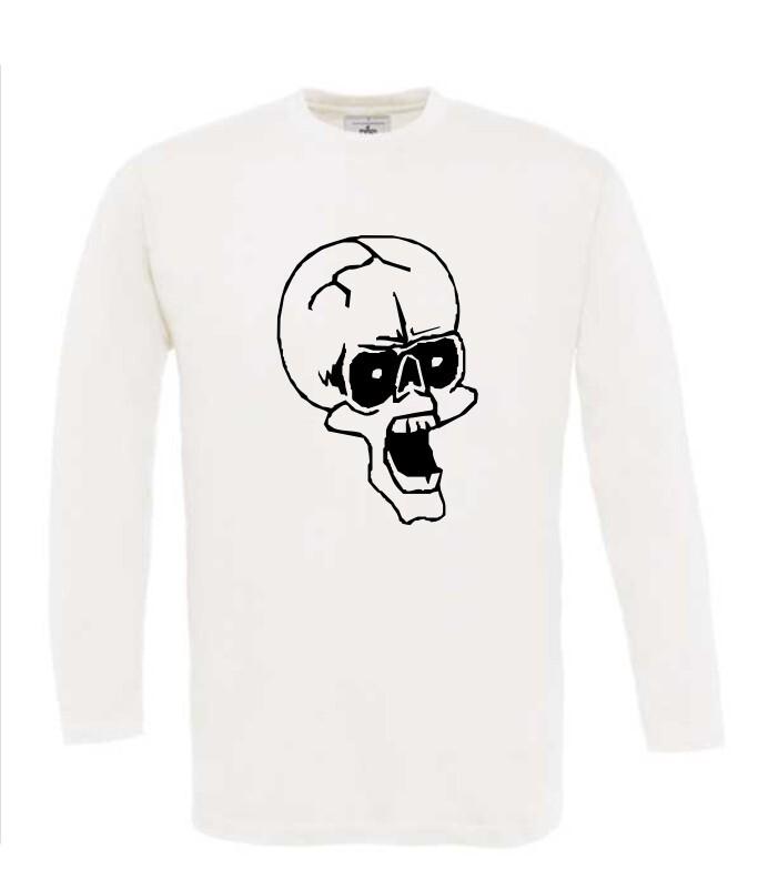 Doodshoofd Shirt Voordelig Mouw T Lange Bij wk8Pn0OX