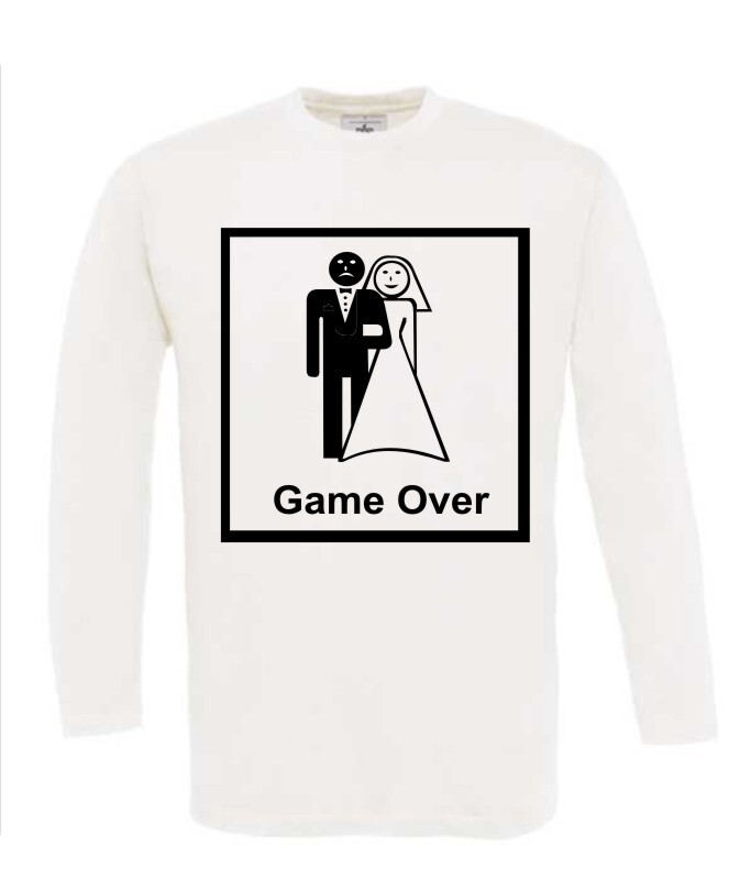 game over trouwen t-shirt lange mouw