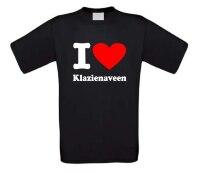 I love Klazienaveen t-shirt korte mouw