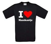 I love Maaskantje t-shirt korte mouw