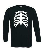 Ribben skelet t-shirt lange mouw
