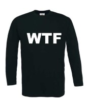 Wtf what the fuck t-shirt lange mouw