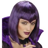 Gothic pruik paars haar