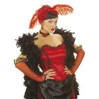 Handschoenen saloon dame rood