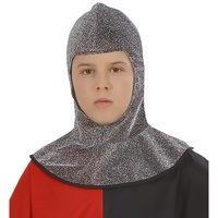 Kap middeleeuwse strijder metalic kind