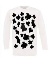 Koeien print t-shirt lange mouw