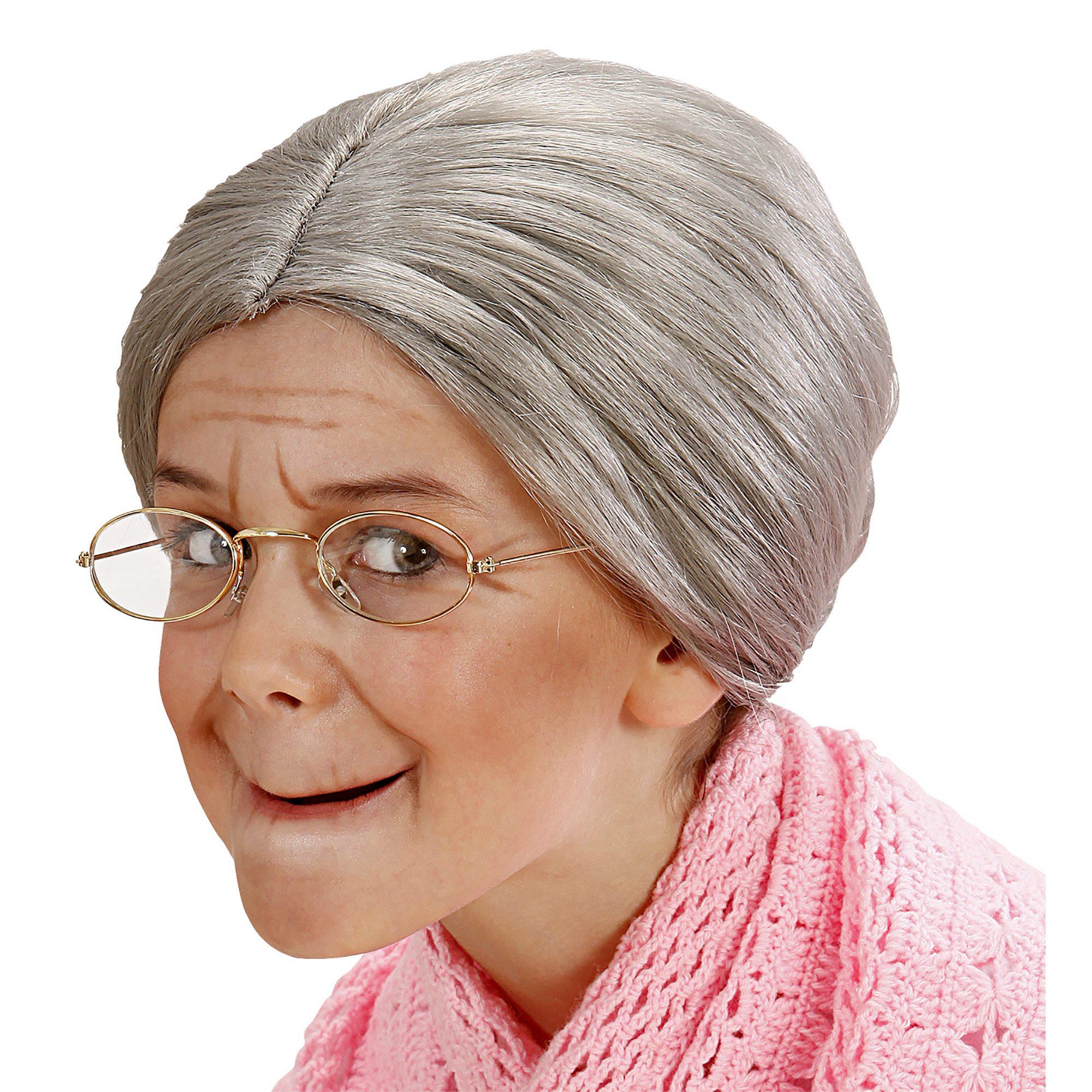 Oma pruik oude vrouw voor kinderen - Kind oud ...