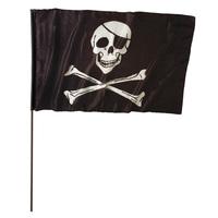 Piratenvlag Groot Met Stok 120 x 70cm