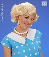 Pruik Audrey blond schoolmeisje