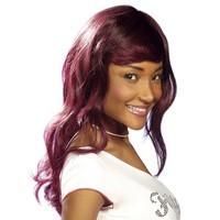 Pruik Chirstelle rood lang haar