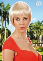 Pruik Claudia blond kort stijl haar