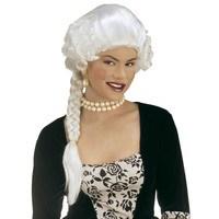 Pruik, Hertogin Josephine wit lang haar staart