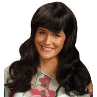 Pruik Sarah zwart lang haar