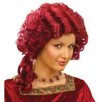 Pruik barok koningin rood