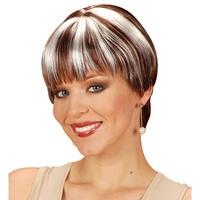 Pruik chanel bruin met blonde highlights
