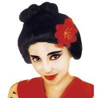 Pruik geisha met bloem chinees japan