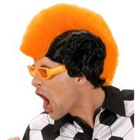 Pruik oranje supporter hannekam