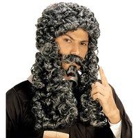 Pruik rechter met snor